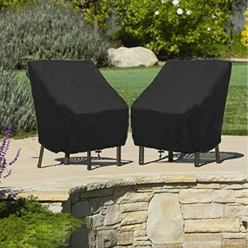 1-10pcs Waterproof Chair Cover High Back Outdoor Patio Garde