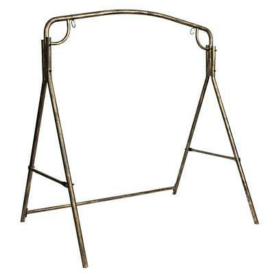 outdoor patio metal swing set frame stand