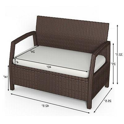 Outdoor Loveseat Couch Patio Brown