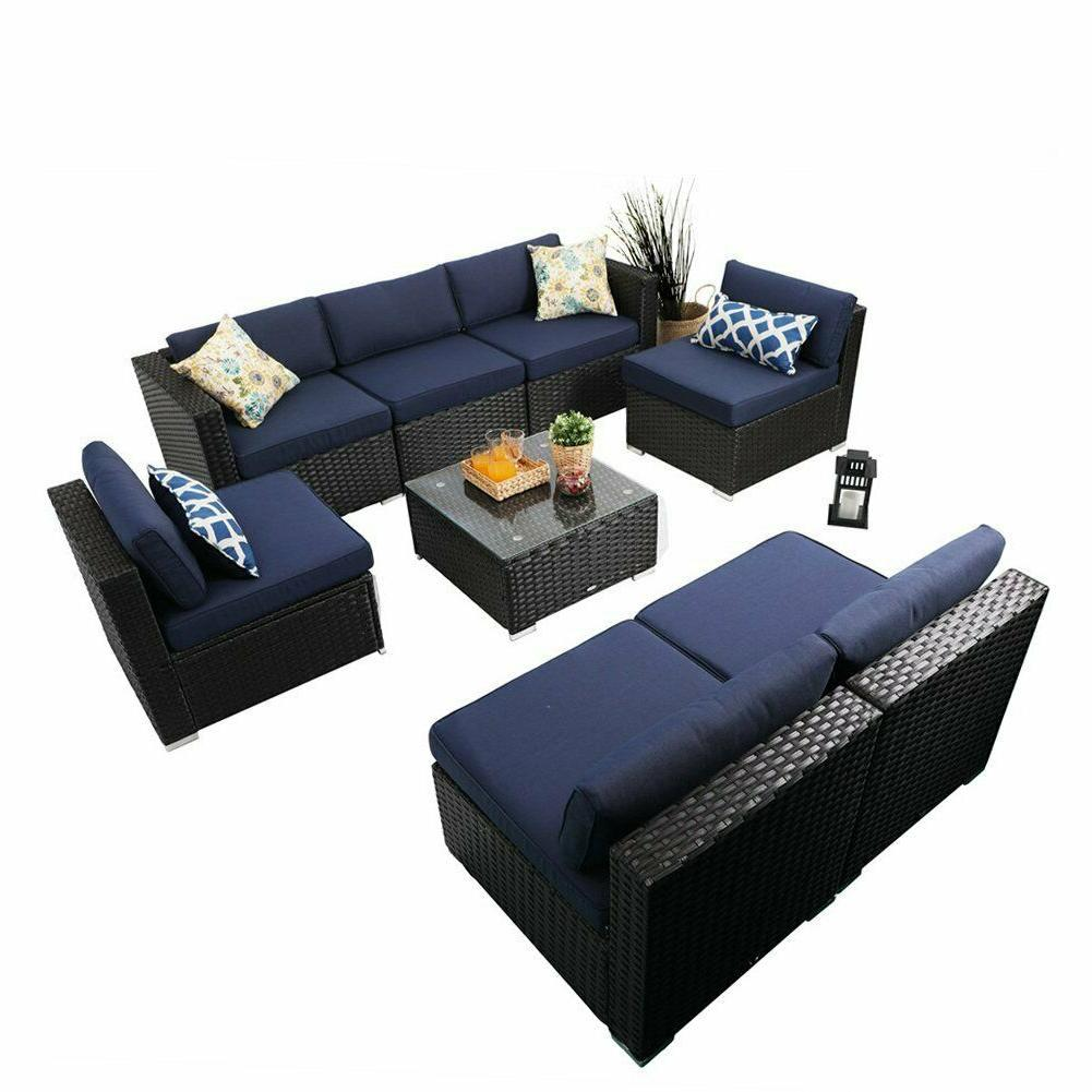 outdoor sectional sofa patio wicker furniture set