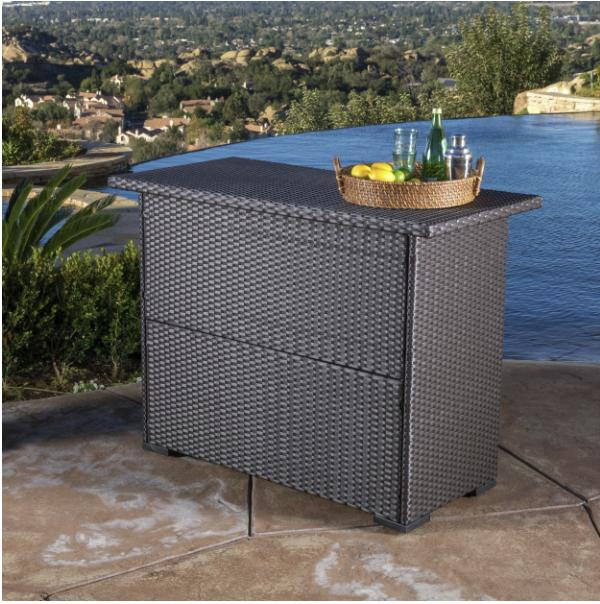 Outdoor Wicker Bar Christopher Knight Patio Furniture