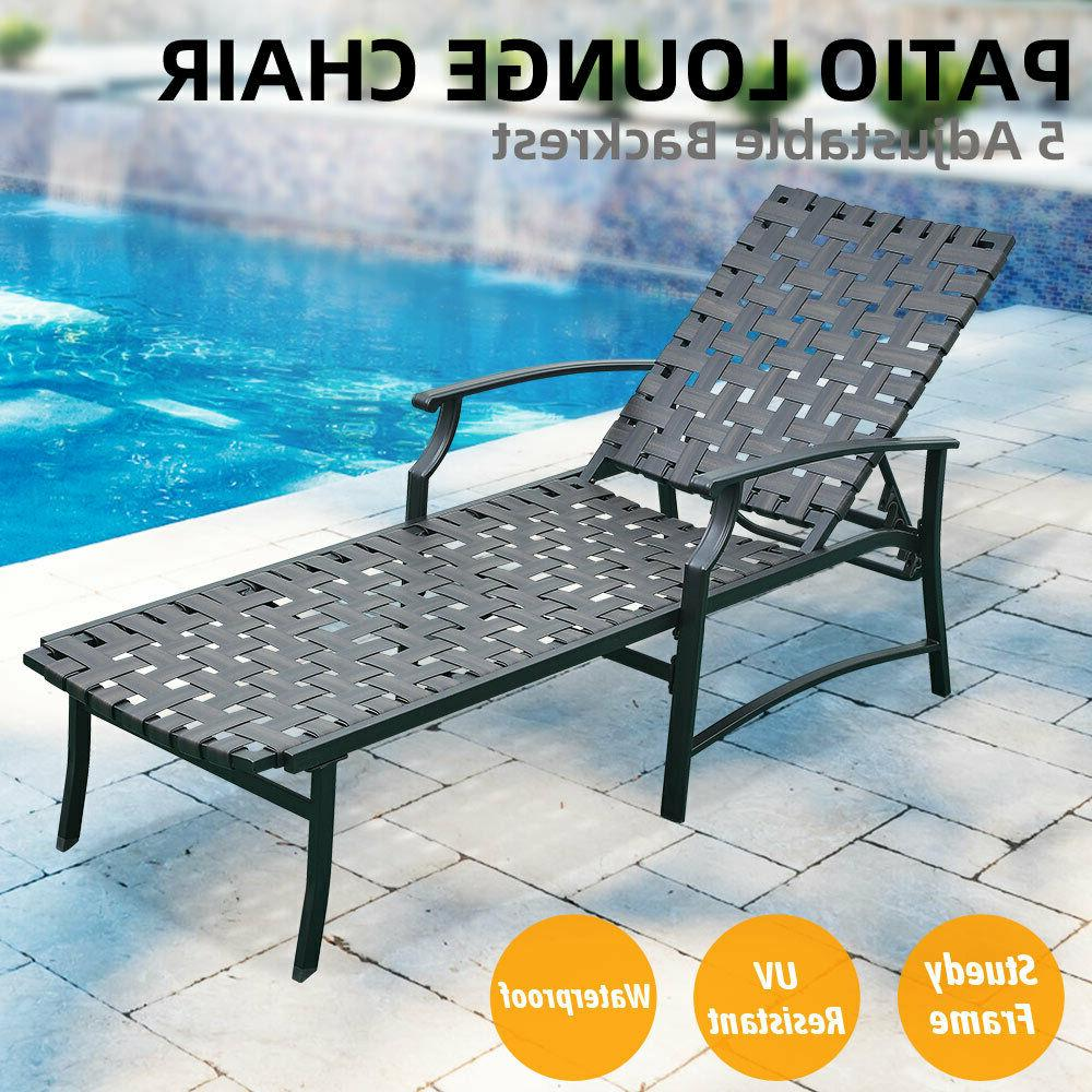 patio adjustable outdoor recliner strap chaise reclining