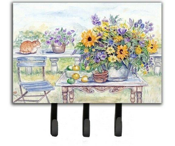 Patio Bouquet of Flowers Leash or Key Holder APH3566TH68
