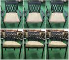 Patio dining chairs set of 6 Tuscany collection cast aluminu