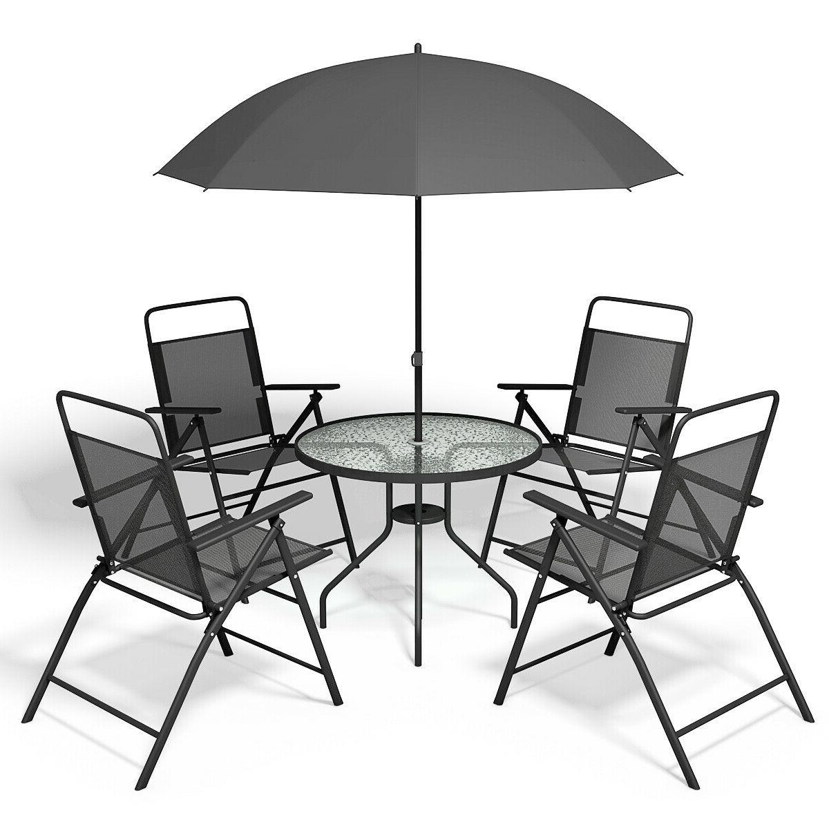 Patio Furniture Sets Clearance With Umbrella 5PC 5 Piece BHG