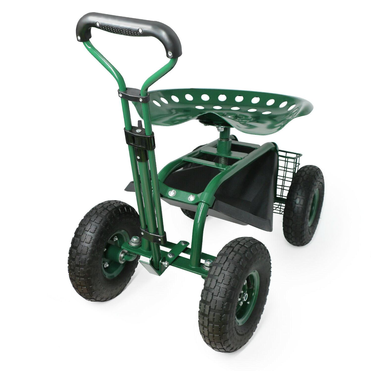 Patio Lawn Cart Planting w/Tool Utility Tray