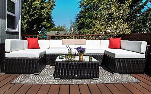 Outsunny Patio Sectional Conversation Furniture Set