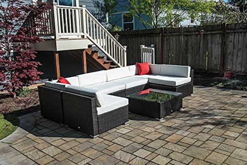 Outsunny 7 Piece Outdoor Patio Sectional