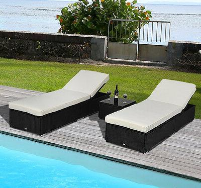 Outsunny Outdoor Synthetic Wicker Lounge Side Table