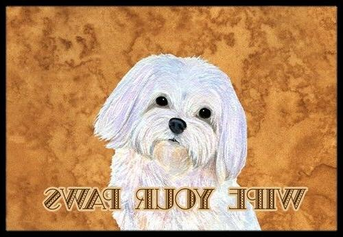 Puppy Cut Maltese Wipe your Paws Indoor or Outdoor Mat 24x36