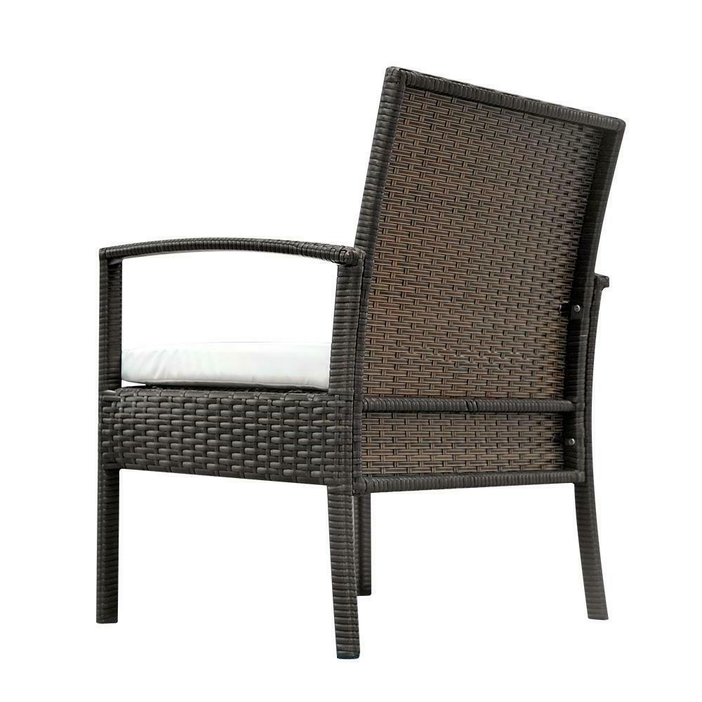 Rattan Sofa 4 Sectional Couch Cushioned Furniture Outdoor