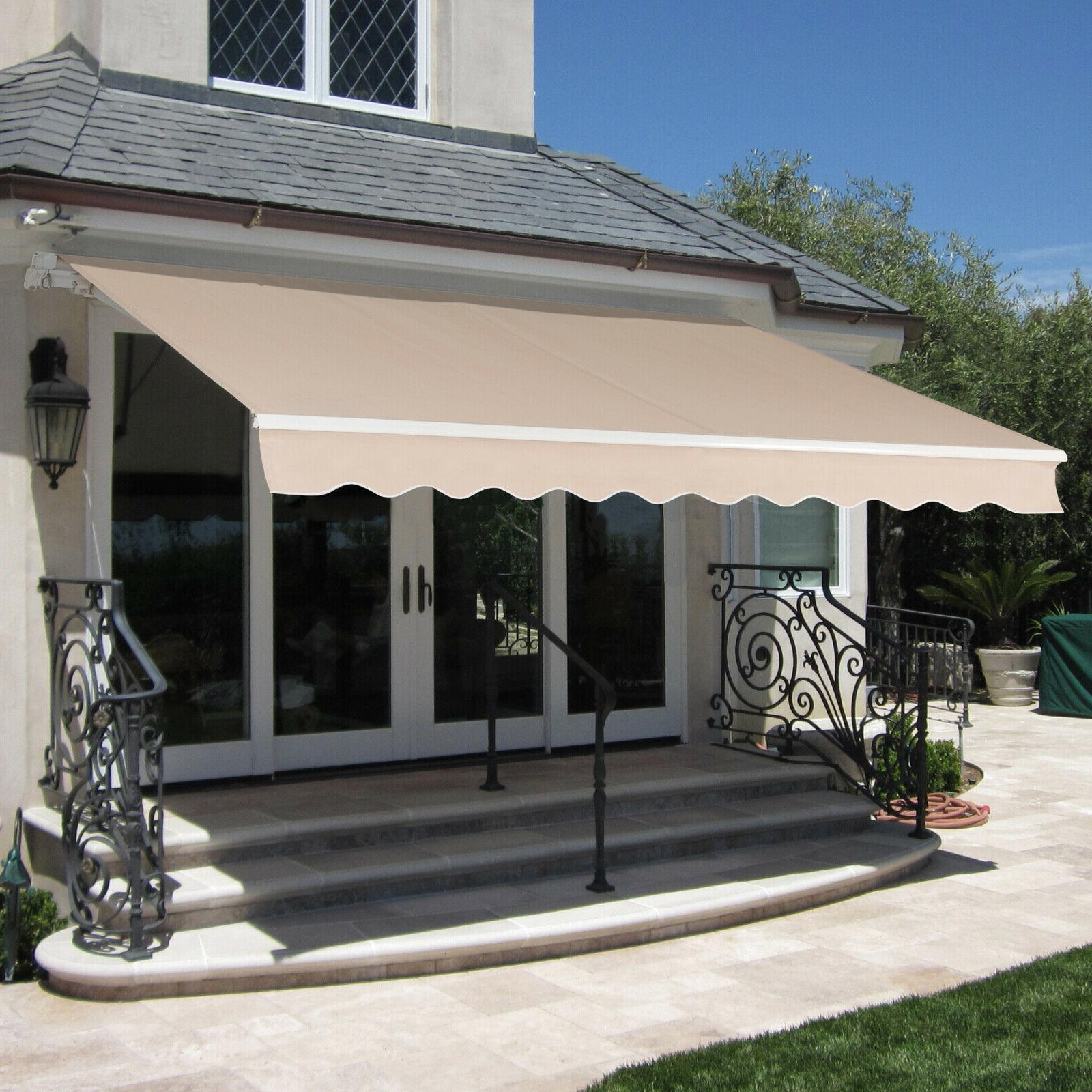 """Retractable Patio Awning, 98""""x80"""", Best"""