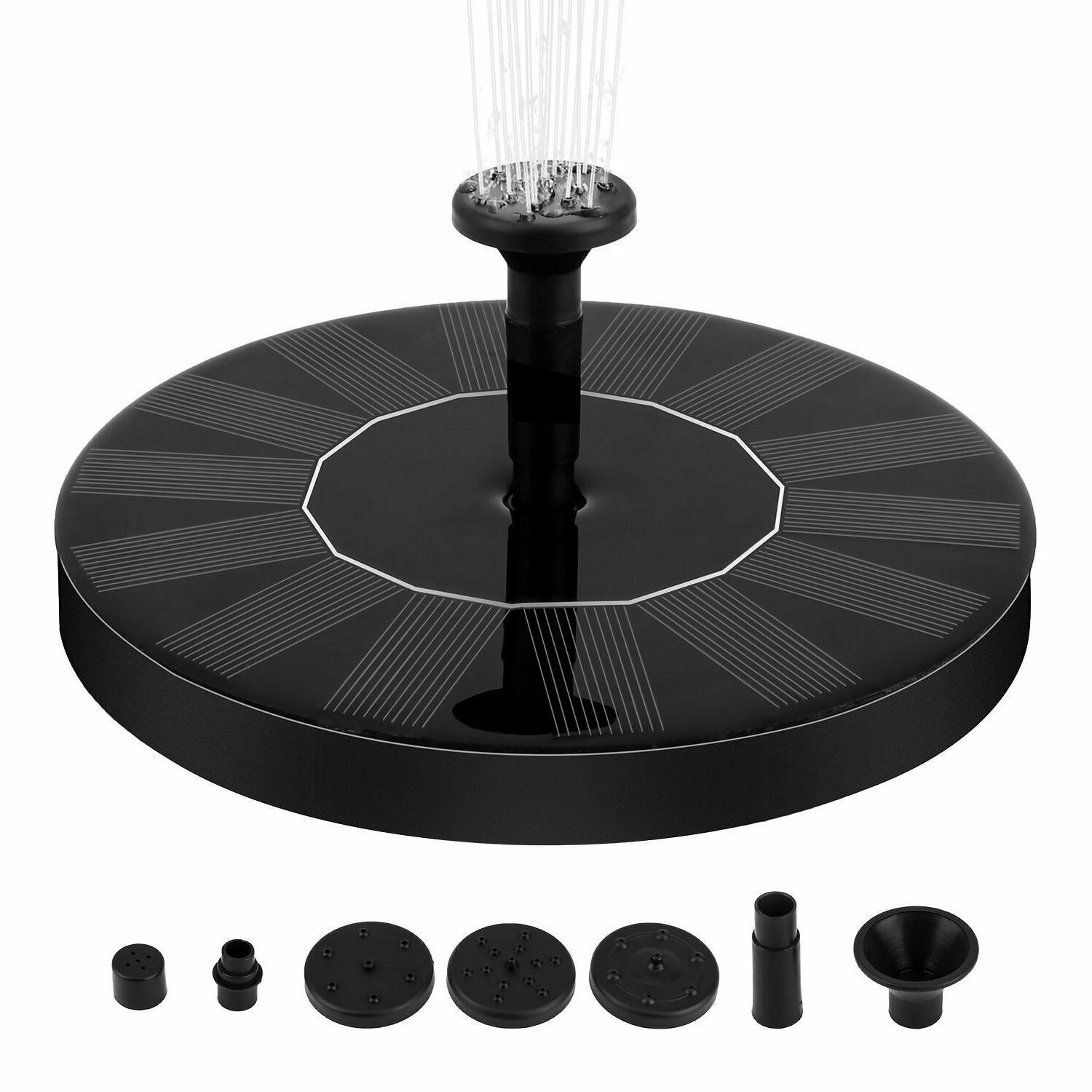 Solar Fountain Water Floating Outdoor Pond Patio