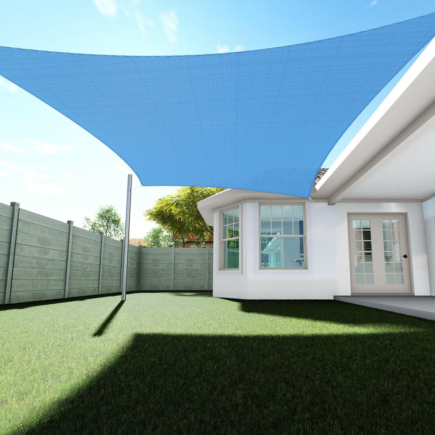 sun shade sail permeable rectangle square outdoor