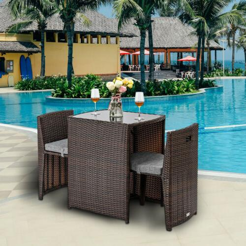 Best Choice Products 3-Piece Patio Wicker Bistro Set for Sma