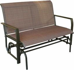 Love Seat Swing Bench For Patio Textile and Sturdy Frame Gli