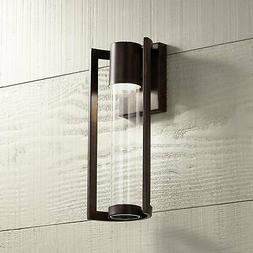 "Modern Outdoor Wall Light Fixture LED Bronze 15"" Cylinder fo"