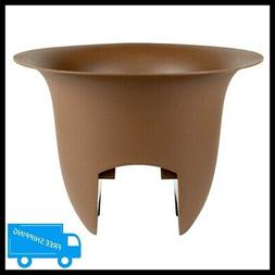 "Bloem Modica Deck Rail Planter, 12"", Chocolate"