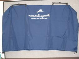 New Tommy Bahama 100 QT. Wood Rolling Cooler Cover Patio Ice