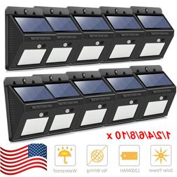 NEW 20 LED Solar Porch & Patio Lights Sensor Motion Wall Lig