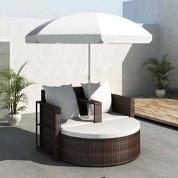 New Cushioned Rattan Patio Set Outdoor Furniture Garden Back