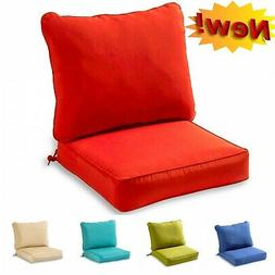 NEW Outdoor Seat Cushions Set Chair Patio Back Pillow Furnit