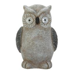 New Solar Owl Statue Garden Outdoor LED Eye Light Bird Figur