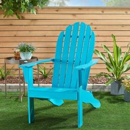 NEW Mainstays Wood Adirondack Chair Outdoor Patio Lounge Dec