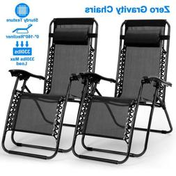 Zero Gravity Folding Chairs Case Of 1/2 Lounge Patio Chairs