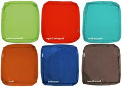 """Outdoor 4 Pack Seat Chair Patio Cushions Zipper Cases 24""""X22"""