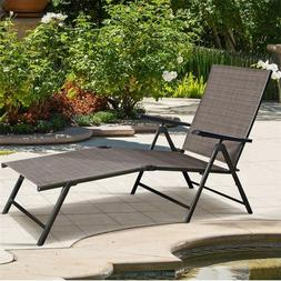 Outdoor Adjustable Chaise Lounge Chair Folding Sun Loungers