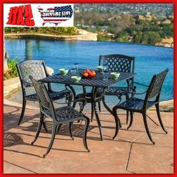 Outdoor Dining Set Clearance Metal Table Chairs Durable Pati