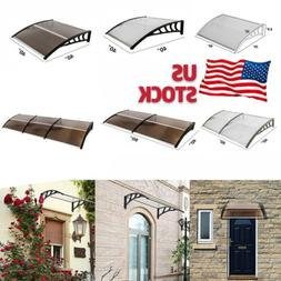 Outdoor Door Window Rain Cover Awning Canopy Porch Sun Front