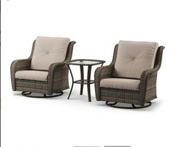Outdoor Patio All Weather Wicker Motion Gliders And Side Tab