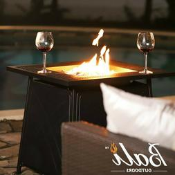 """BALI OUTDOORS 28"""" Gas Fireplace Square Table 50,000BTU Fire"""