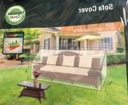 Hentex Outdoor Patio Furniture Loveseat Sofa Cover Water Res