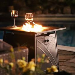 """28""""Outdoor Propane Fire Pit Patio Heater Gas Table Square Fi"""