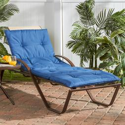 Outdoor Solid Chaise Lounge Pad Patio Recliner Pool Deck Fab