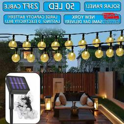 Outdoor String Lights Patio Party Yard Garden Wedding 50 LED