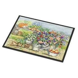 Patio Bouquet and Cat Indoor or Outdoor Mat 18x27 APH3567MAT