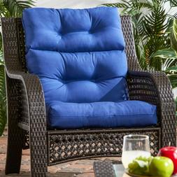 Patio Chair Cushions Blue Replacement High Back Seat Porch O