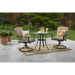 Patio Furniture Bistro Table Chairs Set 3 Piece Front Porch