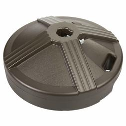 Patio Parasol Umbrella Stand Base Plate Fillable US Weight 5