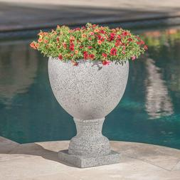 Patio Planter Urn Gray Christopher Knight Home