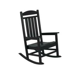 POLYWOOD Patio Rocker Presidential Black UV Protected Water