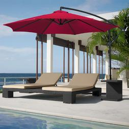 Best Choice Products Patio Umbrella Offset 10' Hanging Umbre