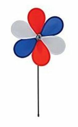 """In the Breeze Patriotic Flower Spinner - 12"""" - Pole included"""