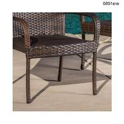 Christopher Knight Home PE Wicker Patio Outdoor Stackable Cl