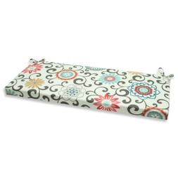 Pillow Perfect Outdoor Pom Pom Play Peachtini Bench Cushion