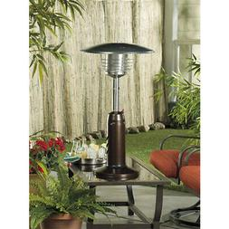 AZ Patio Heater Portable Hammered Bronze and Gold Tabletop H